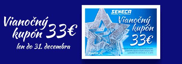 SENECA TOURS  - Vianočný kupón 33 eur