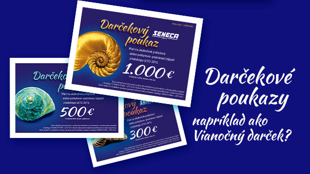 Darčekové poukazy - SENECA TOURS